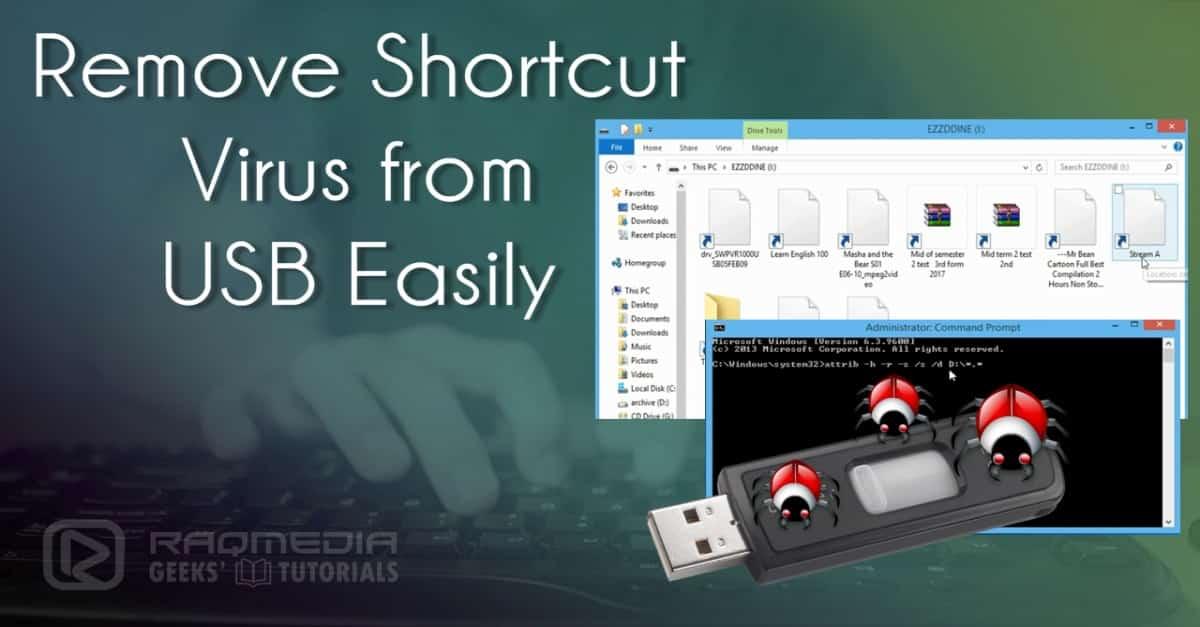 حذف-فيروس-shortcut