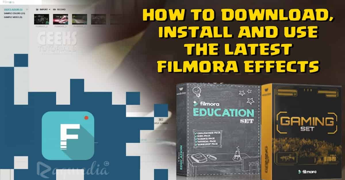 شرح تثبيت جميع فلاتر ومؤثرات برنامج Filmora