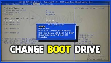 boot priority order to install windows